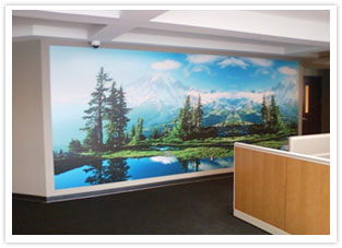 wall mounted murals
